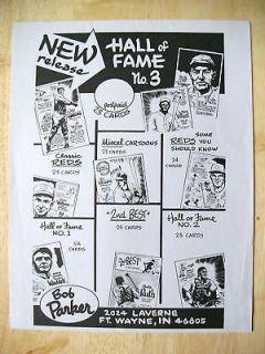 1981 Bob Parker Promo flyer Pete Rose Cincinnati Reds Pie Traynor Babe