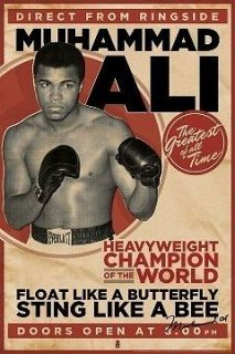 MUHAMMAD ALI POSTER   Vintage Style   OFFICAL MAXI SIZE