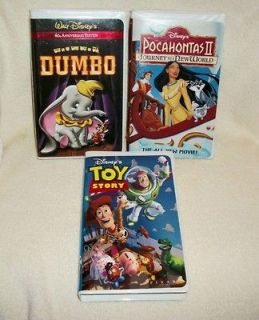 Newly listed DISNEY   DUMBO, TOY STORY & POCAHONTAS II   CHILDRENS