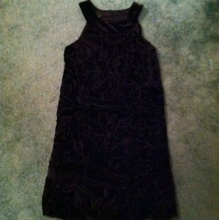 AB Studio Black Floral Velvet Dress 6