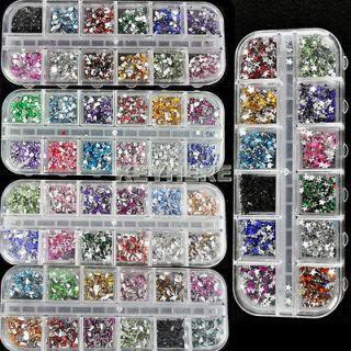 Mix Color Teardrop Nail Art Rhinestones Deco Glitters Gems hot sale