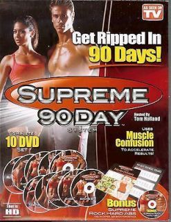 90 DAY WORKOUT   NEW 10 DVD (INTENSE & INSANE WORKOUT FOR WEIGHT LOSS