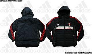 AC Milan adidas Padded Soccer Stadium Jacket/Coart(L )Black Italia