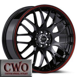 Black Ruff R355 Wheels Rims 4x100/4x114.3 4 Lug Civic Integra Accord