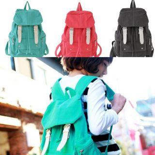 Cute Girl Casual Punk Canvas Shoulder Bag Backpack Satchel School Book