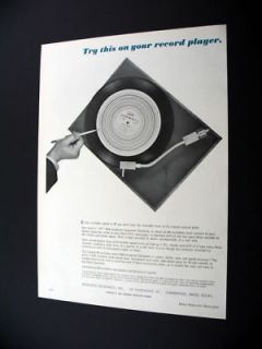 Acoustic Research AR 2 Speed Turntable 1966 print Ad