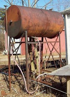 300 350 gallon fuel storage tank with stand with pump and motor AS IS