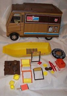 Vtg 70s BIG JIM RV Sports Camper Action Figure Mattel Toy Accessories