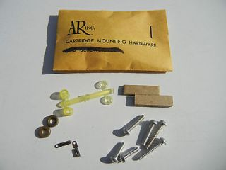 AR ~ ACOUSTIC RESEARCH ~ CARTRIDGE MOUNTING HARDWARE FOR AR TURNTABLE
