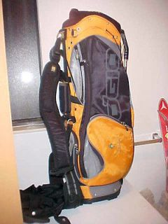 WOMENS GOLF STAND BAG, Orange and Black, Used, Woode Club Mgmt System