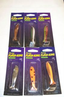 ACME FLASH KING WOBBLER 2 LURES LAKE TROUT & PIKE TROLLING LURE FREE