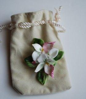 ADDERLEY FLORAL Porcelain Bone China Flower Pin Made in England