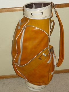VTG CART OR CARRY GOLF BAG WITH ORIGINAL COVER/STRAP UN IQUE COLOR
