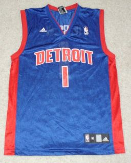 Allen Iverson Detroit Pistons throwback road jersey Adult M
