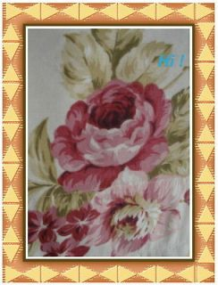 NWOT Laura Ashley SHABBY ROSES PINK A Pair of Floral Drapes/Panels