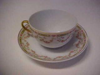 Vintage Victoria Austria Porcelain China Cup Saucer #V3