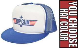 New Retro TOP GUN Movie Hat Cap Snapback Baseball Flat Bill Visor Mesh