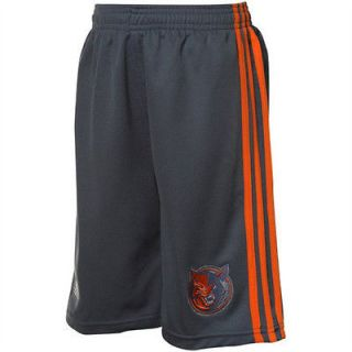 NBA Charlotte Bobcats Adidas On Court Pre Game Shorts  Blue / Grey