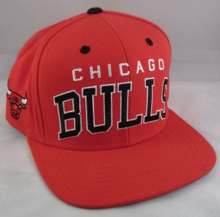 Chicago BULLS Snapback Cap Hat Air Jordan Adidas Derrick Rose NBA Red