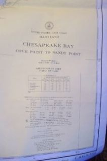 NAUTICAL CHARTS CHESAPEAKE BAY POTOMAC RIVER FENWICK ISLAND 1961 82