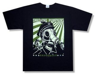 SMASHING PUMPKINS   GAS MASK ZEITGEIST BLACK T SHIRT   NEW ADULT