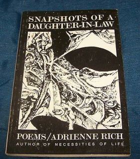 Of A Daughter In Law Poems 1954 1962 Adrienne Rich 1st thus Revised PB