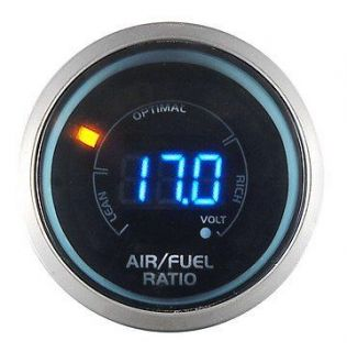 52mm LED Digital Sport Racing Gauge Air / Fuel ratio with Volt Meter