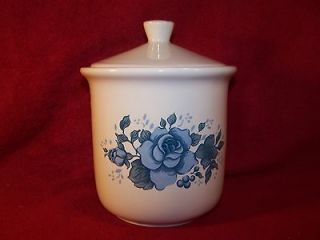 Corning/Corelle ~ Blue Velvet ~ Small Coffee/Tea Canister with Lid 5