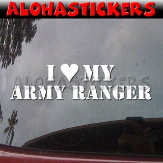 Love Heart My ARMY RANGER Car Truck Graphics Vinyl Decal Window