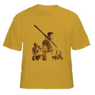 Seven Samurai Akira Kurosawa Japanese Gold t shirt