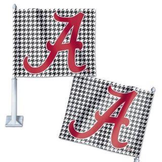 Alabama Crimson Tide Houndstooth Car Flag