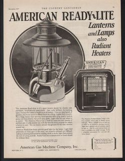 READY LITE LANTERN HEATER STOVE GAS ALBERT LEA MINNESOTA ART AD
