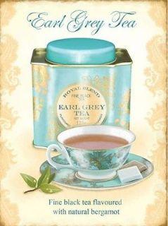 Earl Grey Tea, Kitchen, Cafe, Restaurant, Small Metal/Tin Sign