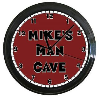 PERSONALIZED ALABAMA MAN CAVE WALL CLOCK RED GRAY CRIMSON TIDE
