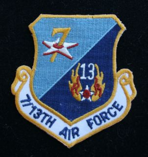 7TH 13TH US AIR FORCE HAT PATCH US ARMY AIR CORPS