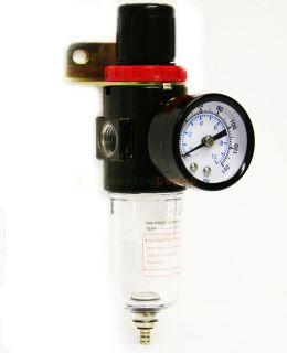 Air Compressor Filter W/ Regulator Gauge Water Trap Air Tool