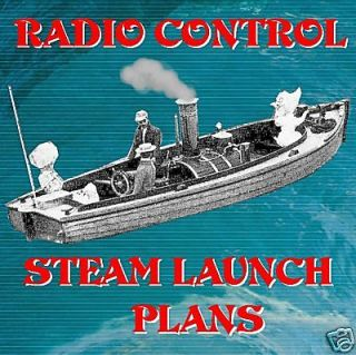 RADIO CONTROL MODEL BOAT PLANS STEAM LAUNCH WIDE a WAKE NOTE PLANS