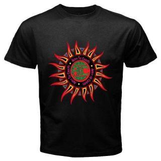 New ALICE IN CHAINS GRUNGE Sun Logo Rock Band Mens Black T Shirt