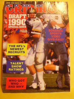 NFL GRIDIRON # 72 JUNE 1990 LOUIS LIPPS GAMECOCKS GREEN ALFRED VELASCO