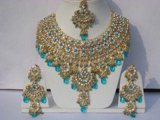 INDIAN ASHWAIRIYAS GLAMOUR JODHA AKBAR TURQUOISE BRIDAL JEWELRY
