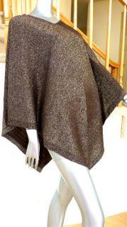 Ellen Tracy Sweater Poncho Cape Wrap Swing Cardigan Knit Sweater