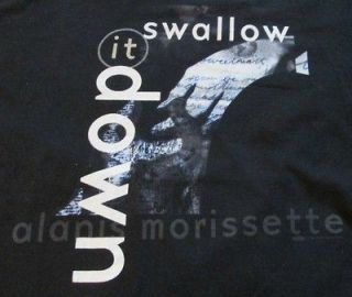 Alanis morissette shirt Swallow it down XL, fits smaller Pre owned