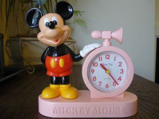 vintage mickey mouse talking alarm clock japan from canada time