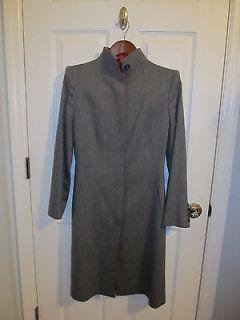 Alexander McQueen slim dress coat  gray wool blend  SZ IT 40 US 4