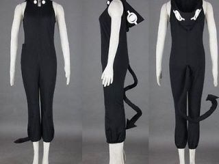 Customize Soul Eater Medusa Black Cosplay Costume Jumpsuit New Any