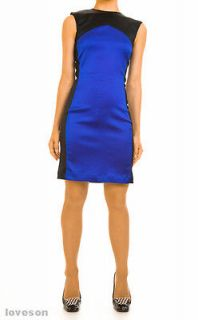 New ANA LOCKING Shift Dress W/Strong Shoulders XS