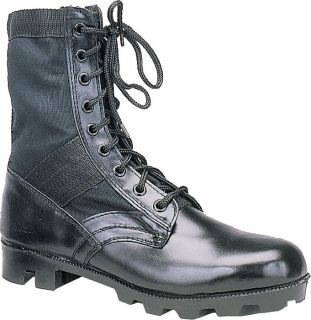 Black Military Army Canvas Panama Jungle Combat Boots