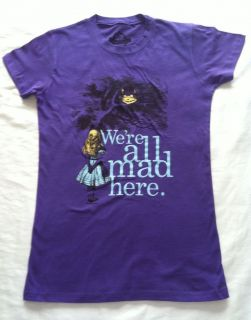 ALICE IN WONDERLAND WOMENS T.SHIRT   Were All Mad Here