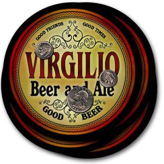 Virgilio s Beer & Ale Coasers   4 Pack