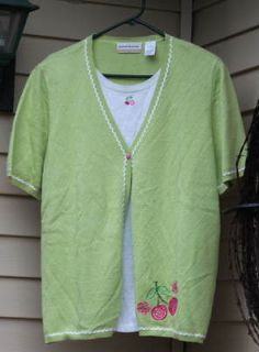 Newly listed PINK CHERRY TOP/SWEATER BY ALFRED DUNNER  SIZE 1X